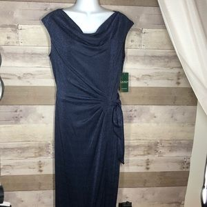 NWT Ralph Laura Blue Formal Dress size 14